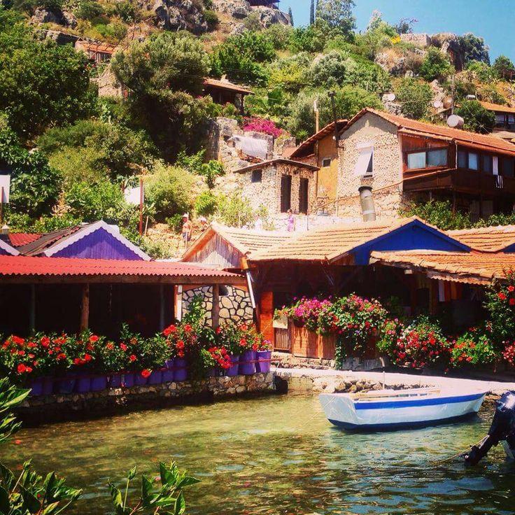 Kekova, Akvaryum, Kas, Turkey.