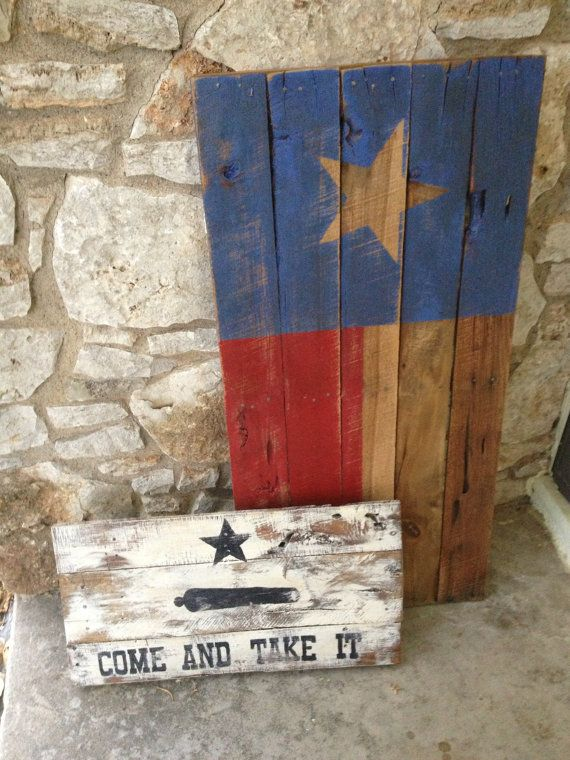 Texas Battle Flag pallet Sign by RusticRestyle on Etsy