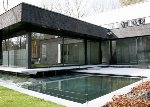 Kapellen Modern House Design Large Exterior Window Amazing Design