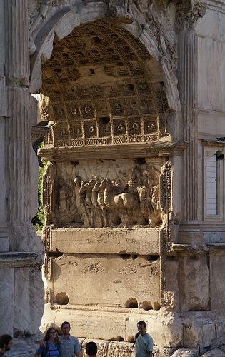 The Arch of Titus at Via Sacra, Rome - constructed in c.82