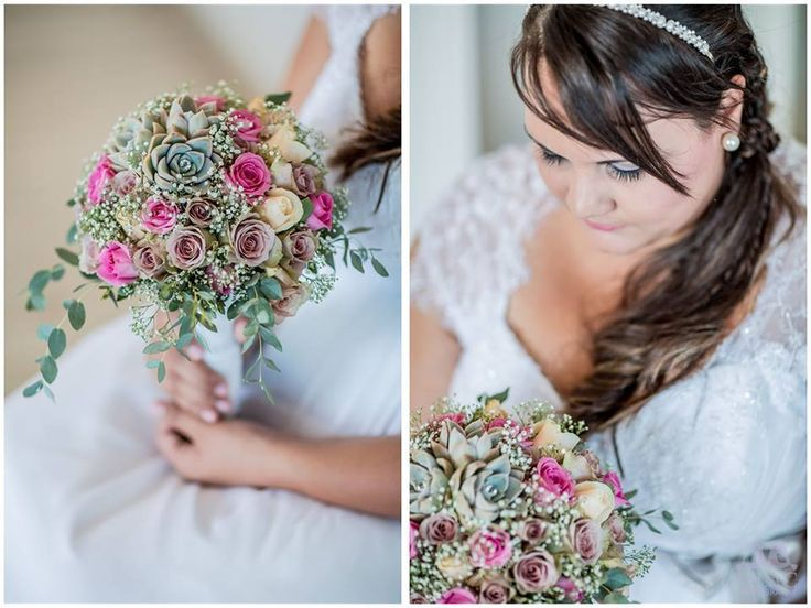 Vintage Pastel colours - Pastel bridal bouquet