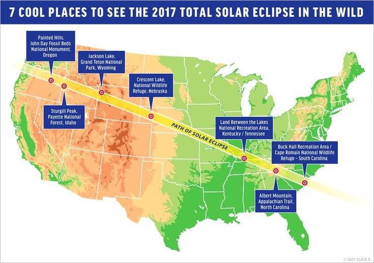 From mountain peaks to wildlife refuges, we've rounded up some of the best wild places to view the 2017 total solar eclipse.