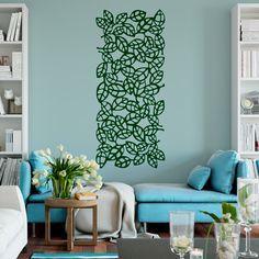 Vinilos Decorativos: Lámina estampado ornamental de hojas ideal para decorar espejos, paredes o puertas #vinilo #decoración #pared #espejo #puerta #deco #vegetación #TeleAdhesivo