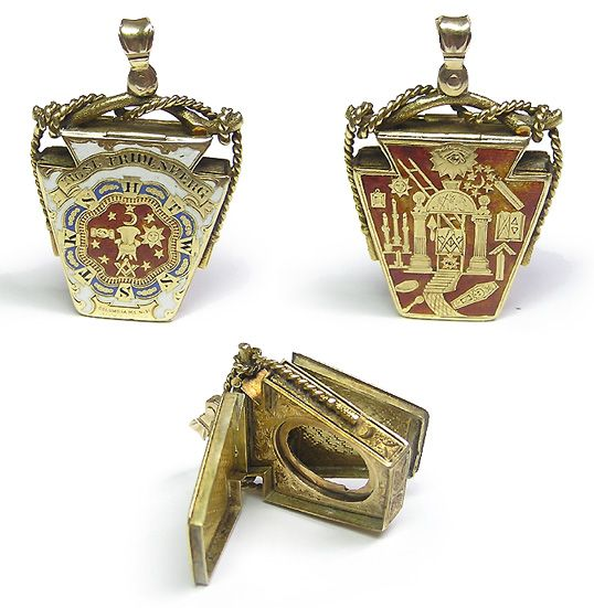 York Rite and Royal Arch Masonic FOB