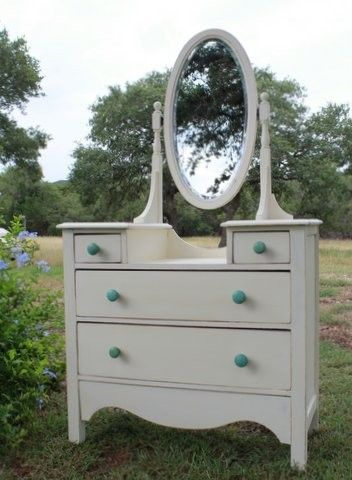 Antique Dresser With Mirror $495   Austin Http://furnishly.com/antique