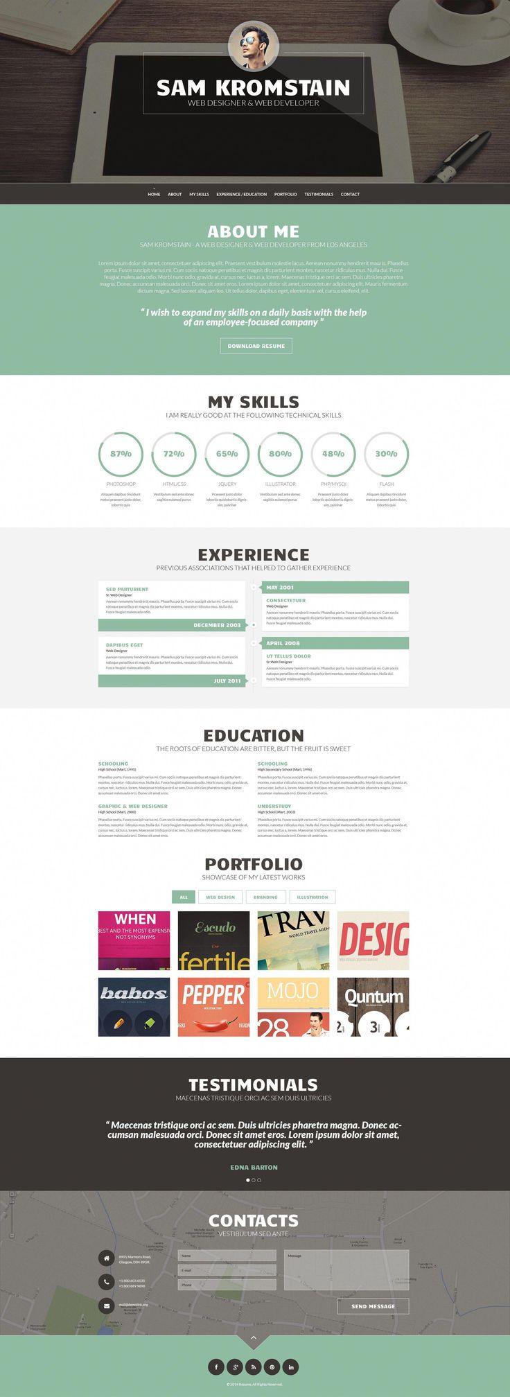 Web Developer CV WordPress Template