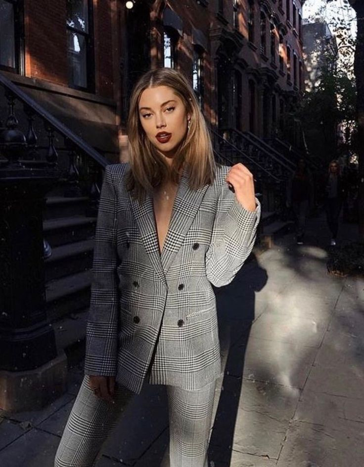 grey blazer / suit outfit.