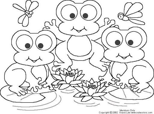 frogs free coloring pages coloring pages