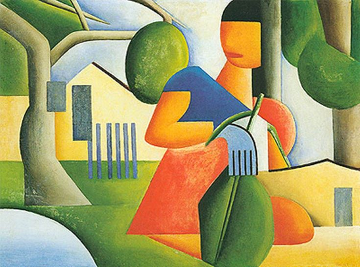 Countrified(1923) - Oil on Canvas - Tarsila do Amaral.