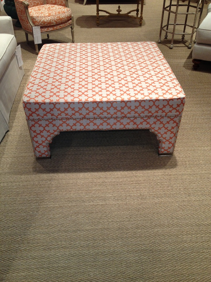 Peel me a grape, sweetie, I am hot and bothered. There's something about this girl at Pearson that makes me itch. Oh, the exotic lines of this 215 ottoman! Totally Topkapi terrific! Comes as a square bench, too. Pearson, 200 North Hamilton #hpmkt