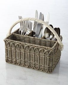Wicker Utensil Caddy