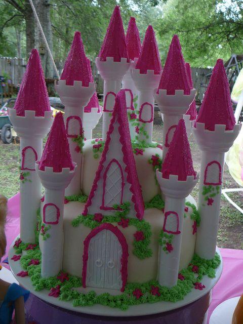 Fancy Princess Castle Cake #princess #cake