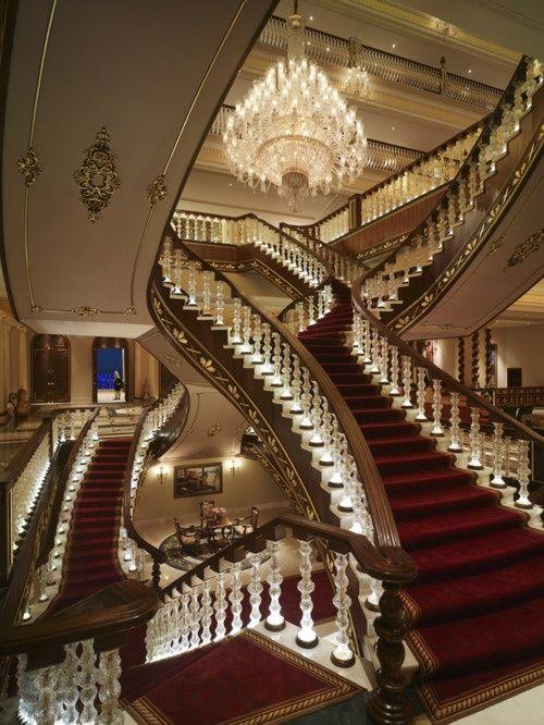 Grand Staircase, Antalya, Turkey #MostBeautifulArchitecture #Staircases
