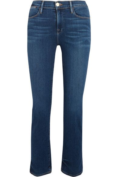 FRAME - Le High Cropped Skinny Jeans - Blue - 30