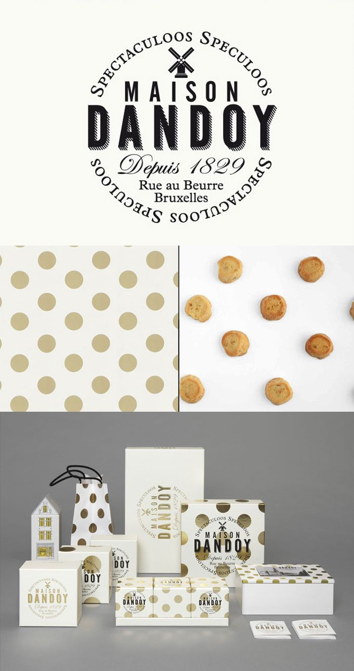 //The Dieline Package Design Awards 2013: Confectionary, Snacks, & Desserts, Merit -Maison Dandoy/Designed by Base Design //