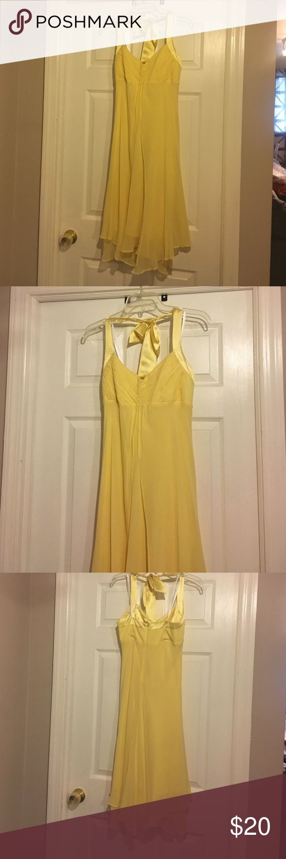 Donna Ricco Yellow Cocktail/Prom Dress. Size 4 Flowing, yellow Donna Ricco dress size 4. Worn once and in good condition. Donna Ricco Dresses