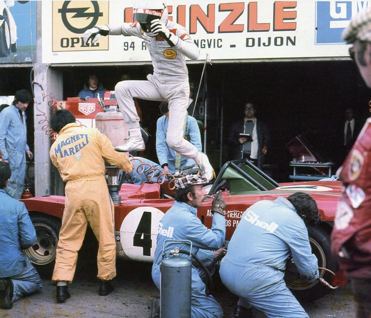 Merzario / Pace ´s Ferrari 312PB pit stop.Nurburgring ,1973.