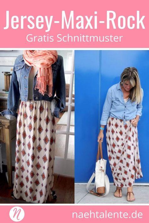 Jersey-Maxi-Rock | damskie | Pinterest | Lange röcke, Maxi-Röcke und ...