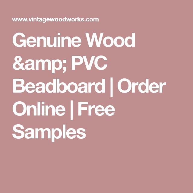 Genuine Wood & PVC Beadboard | Order Online | Free Samples
