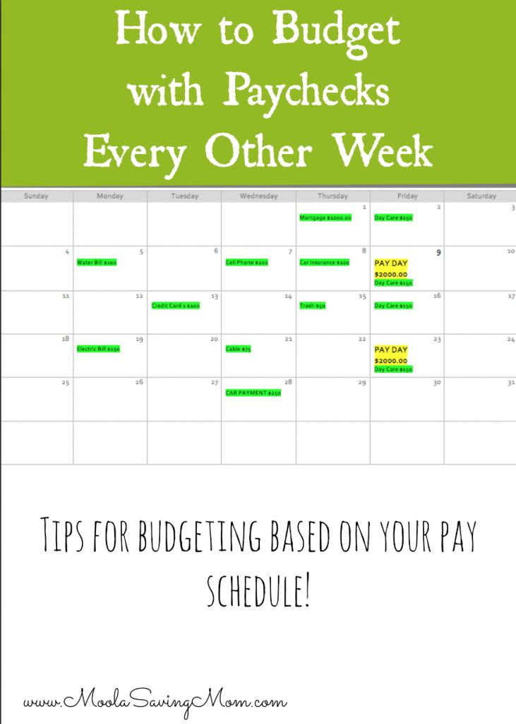How to Budget If You are Paid Every 2 Weeks