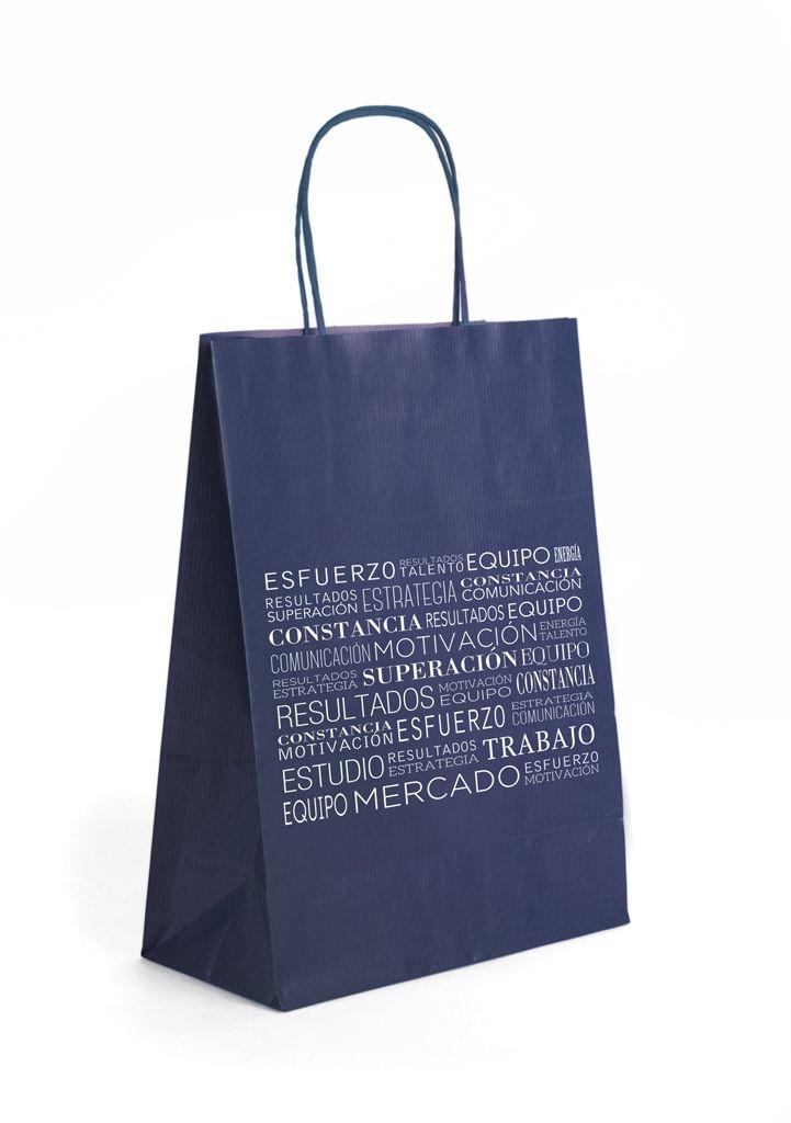 Bolsa asa rizada de celulosa colores con diseño de Prismatika para Pak&Bag