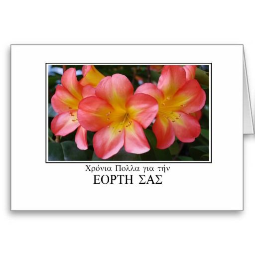 #Name_day #greetings in #Greek with #Clivia Greeting #Card