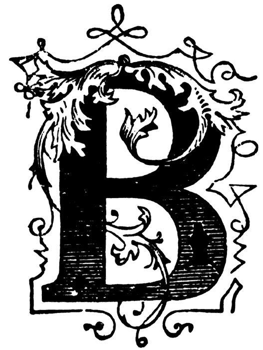 Educational ClipArt: Decorative Letters, B 25