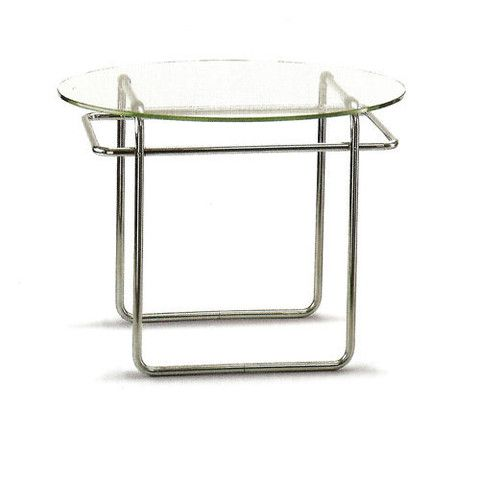 """Marcel Breuer designed his sizable K40 Sofa Table designed between 1927 and '28. H 23 1/2, Dia 32"""""""
