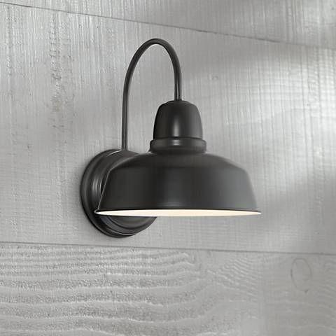 "Urban Barn Collection 13"" High Black Outdoor Wall Light"