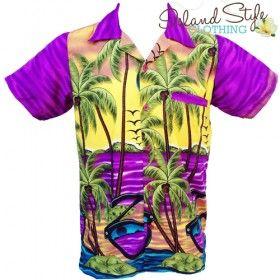 Mens Hawaiian Shirt Purple Sunglasses Plus Size Party Shirts for the big boys. 3XL, 4XL, 5XL, 6XL. Casual, Cruise or Hawaiian Fancy Dress Costume http://islandstyleclothing.com.au/menswear/hawaiian-shirts/hawaiianshirts-plussize