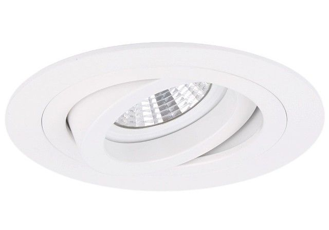 11,95  Excl lichtbron: Incl MR16 en GU10 fitting Voor meerdere typen lampen    Inbouwspot Modena wit rond kantelbaar