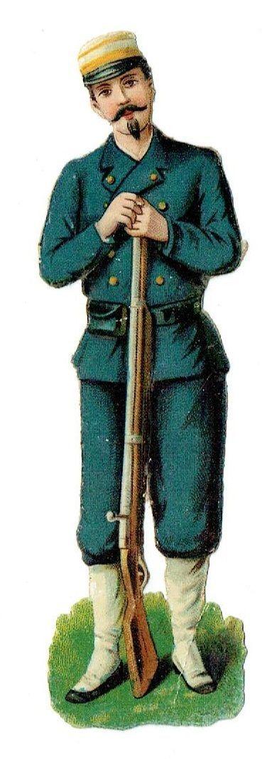Un chromo - Découpis - Soldat au fusil --  fr.picclick.com