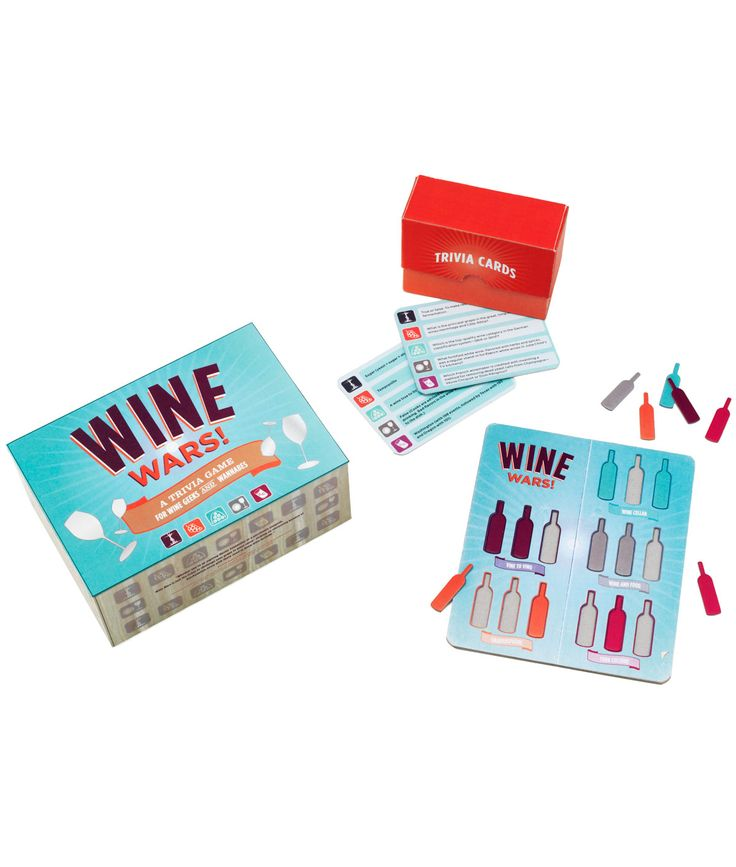WINE WARS TRIVIA GAME | Board Game, Cards, Questions | UncommonGoods