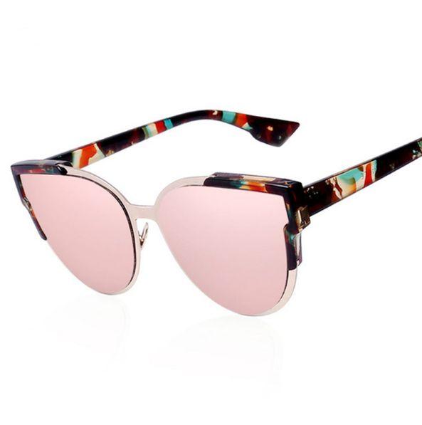 2017 Nouveau / Unisexe / Feather / Metal / Hollow Fashion Personalized / Color Reflective Sunglasses,B