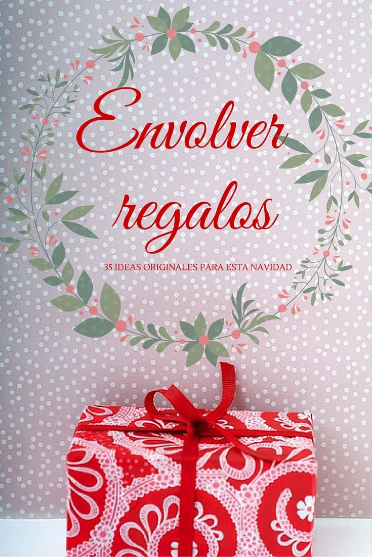 49 best navidad images on pinterest christmas diy for Envolver regalos originales