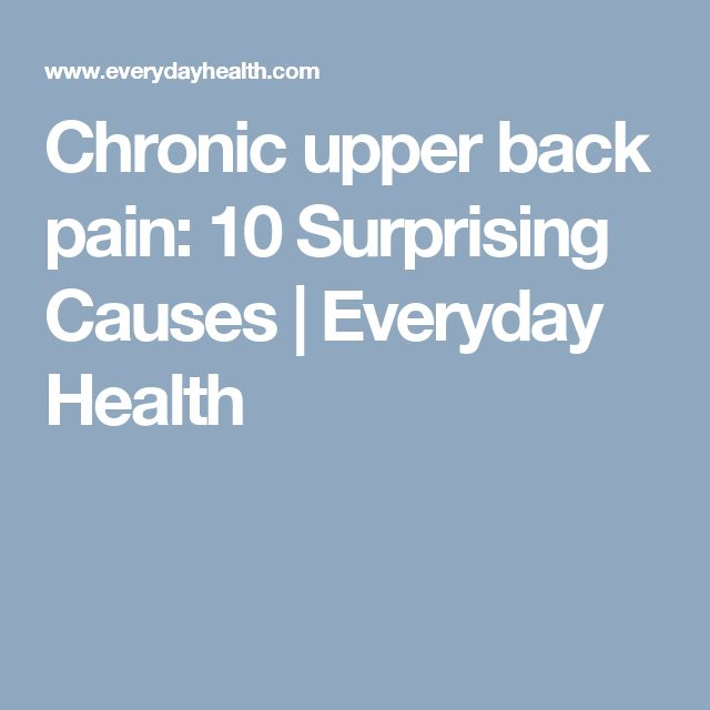10 Surprising Back Pain Causes