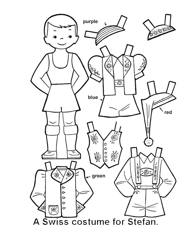 Best Paper Dolls Coloring Art Print Pages Colouring For Adults