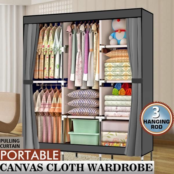 71 Portable Clothes Closet Non Woven Fabric Wardrobe Foldable Assembl Portable Closet Closet Storage Portable Wardrobe