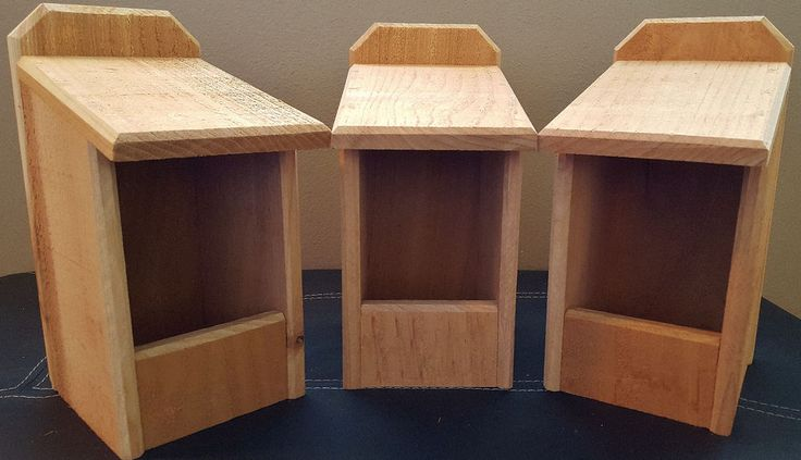 3 Cedar Nesting Boxes, for Robins, Cardinals, Bluebirds, Titmouse.... Bird House