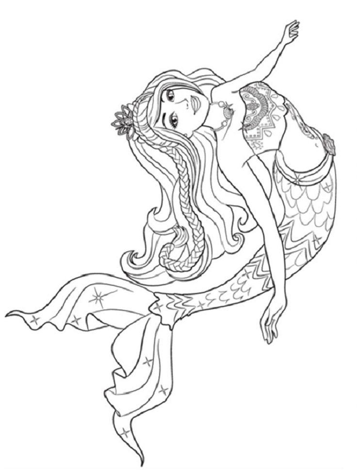 barbie princess mermaid coloring pages | Sirena para ...