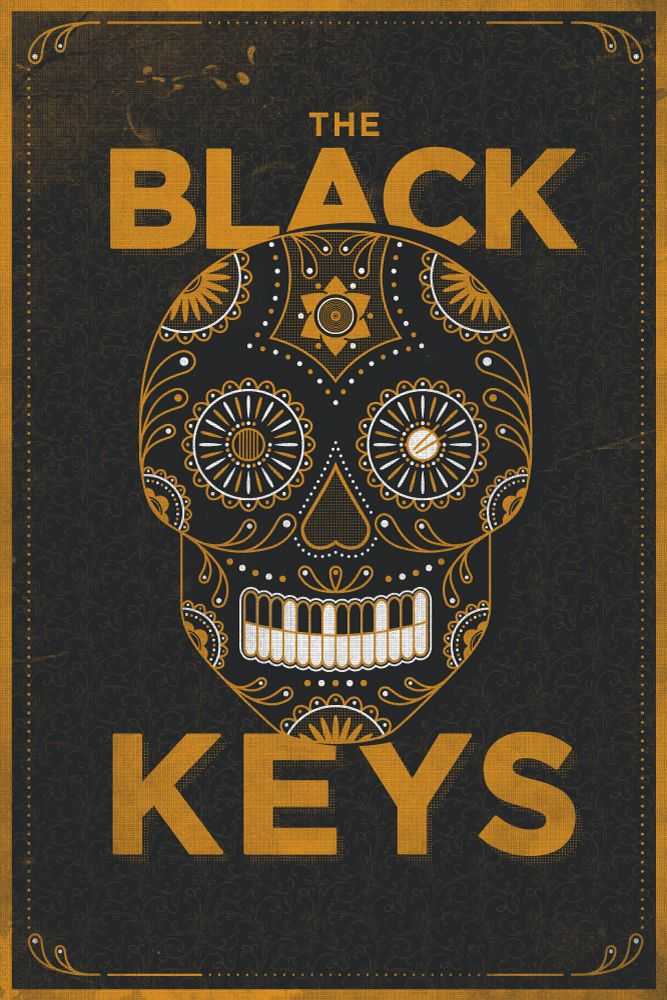 The Black Keys Skull Poster by Jamie McLennan.  Looks like Cubanisto's logo.