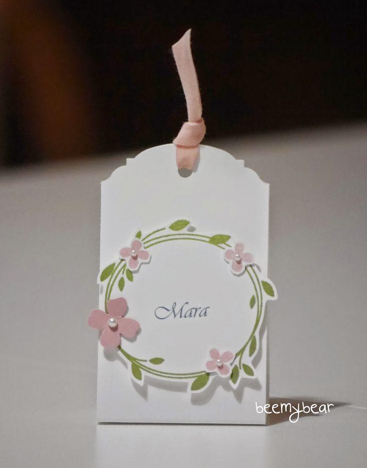 stampin with beemybear: Hochzeit, Tischkarte, Stampin'up, Perfekter Tag, Überraschung