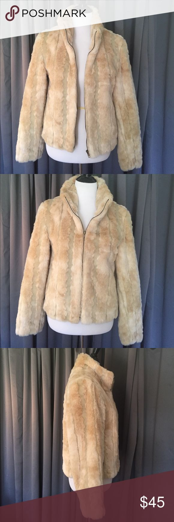 Cream Fur Jacket Zip Up Super Soft Kristen Blake S Super soft beige long sleeve beige zip up faux fur jacket. By Kristen Blake. Size Small. I usually where a L/XL and this fits me comfortably. Excellent condition. Kristen Blake Jackets & Coats