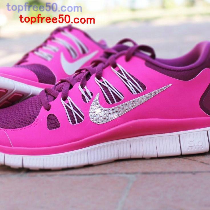 Half off Nike Free 5.0 Hot Sale,Nike Free 5.0 Swarovski Rhinestones Pink