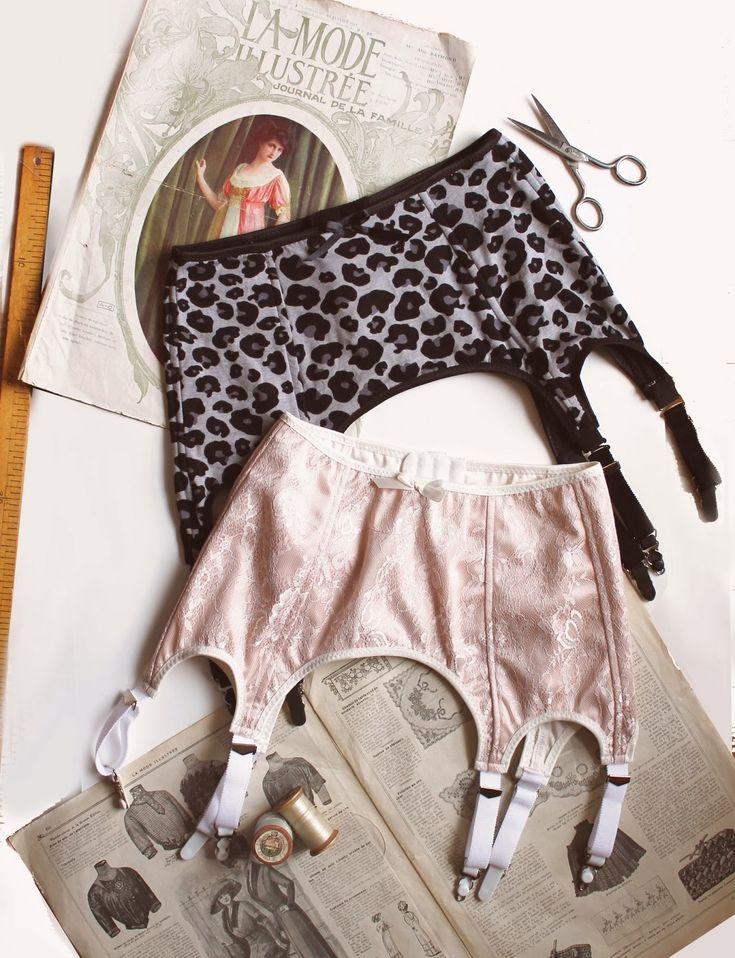 high waist 6 strap garter belt pattern. ohhh lulu