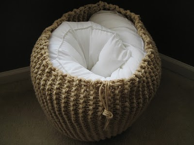 Stuffed with a bodypillow - GREAT idea - Could be Crocheted as well!!!!