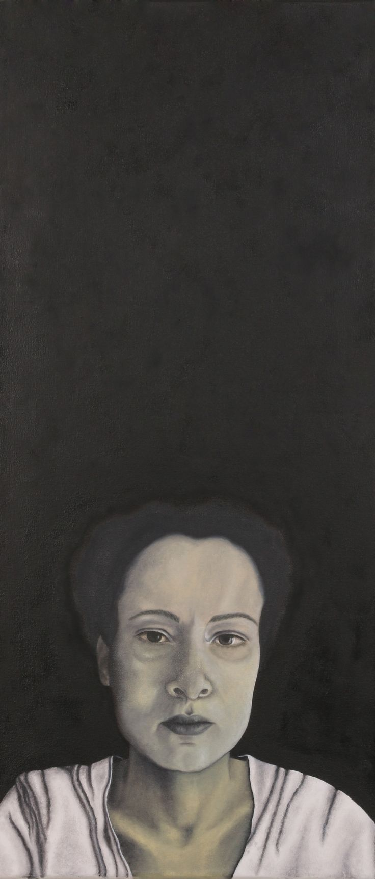 """Siyah Portre"", tuval üzerine yağlıboya, 40x90cm"