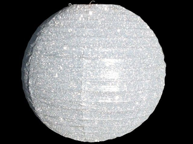 Glitter Silver Paper Lantern available at www.facebook.com/MyKidzParty