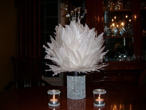 Found This From A On Weddingbee And Think It S Gorgeous Parties Crafts Pinterest Engagement Party Centerpieces