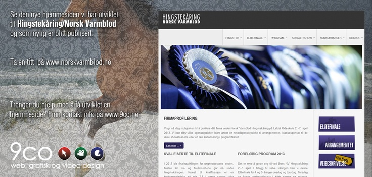 Here is the new homepage we made for the Stallion select for Norwegian Varmblood.
